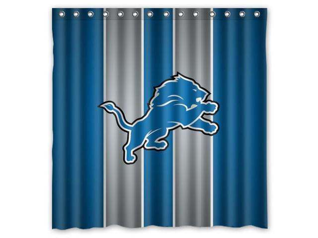 Great Carolina Panthers 03 NFL Design Polyester Fabric Bath Shower Curtain  180x180 Cm Waterproof And Mildewproof Shower