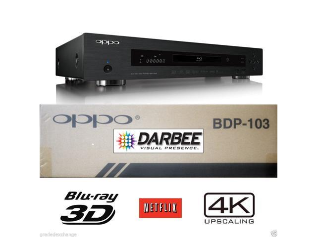 New OPPO DIGITAL BDP-103D DARBEE EDITION UNIVERSAL NETWORK 3D BLU-RAY 4K PLAYER