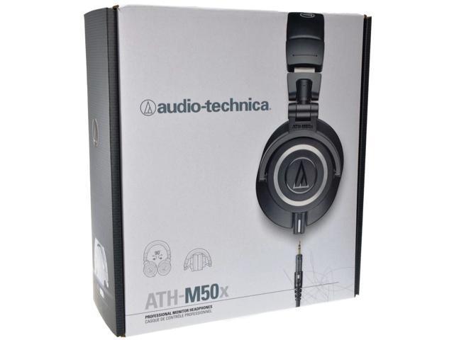 """E-buy World"" Audio Technica ATH-M50x Professional Foldable Studio Monitor Headphones - Black"