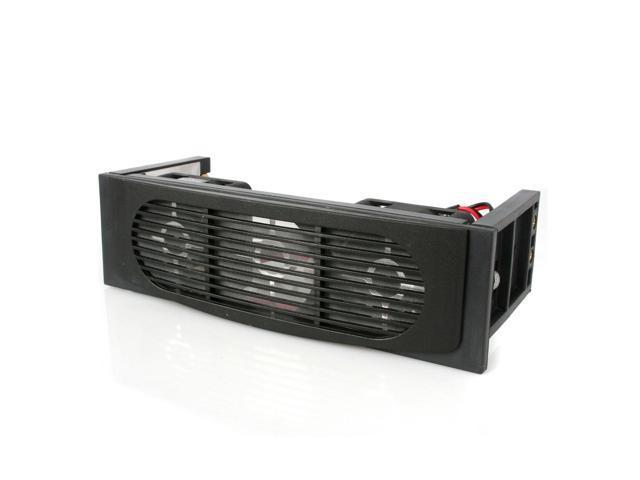 """""""E-buy World"""" New EverCool EC-HK-3F-BK Hard Disk Drive 5.25"""" inch Bay 3 Fan Case HDD Cooler -Black"""