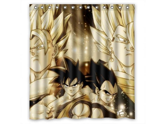 Modern Design Mildew Resistant Dragon Ball Z Shower