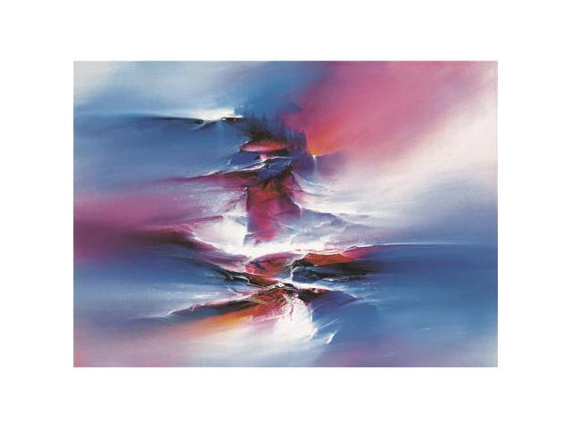 Canvas Prints Of Oil Painting 39 Modern Abstract Blue 39 12 X 17 Inch 30 X 42 Cm High