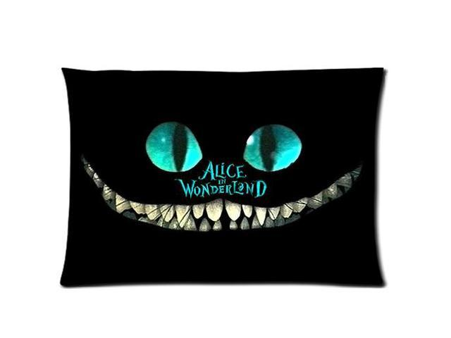 Grinning Cheshire Cat Alice In Wonderland 2 Sides 20X30 Inch Zippered