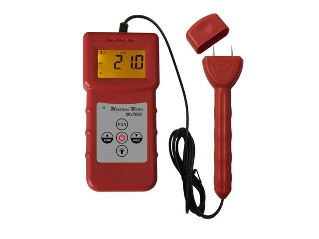 Ms7200 digital wood moisture meter timber paper bamboo for Wood floor moisture meter