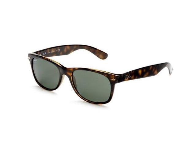 Ray Ban RB2132 Wayfarer Classic Sunglasses (55 mm) - Tortoise Frame/Green G