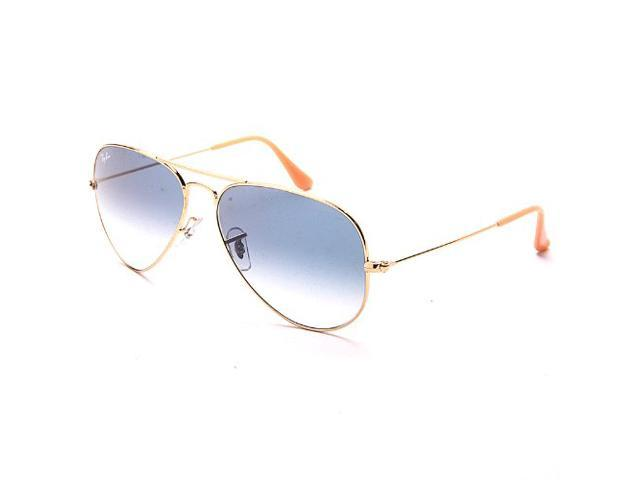 Rb3025 Aviator Sunglasses Gold Frame Crystal Gradient Bl : Ray-Ban RB3025 Aviator Gradient Non-Polarized Sunglasses ...