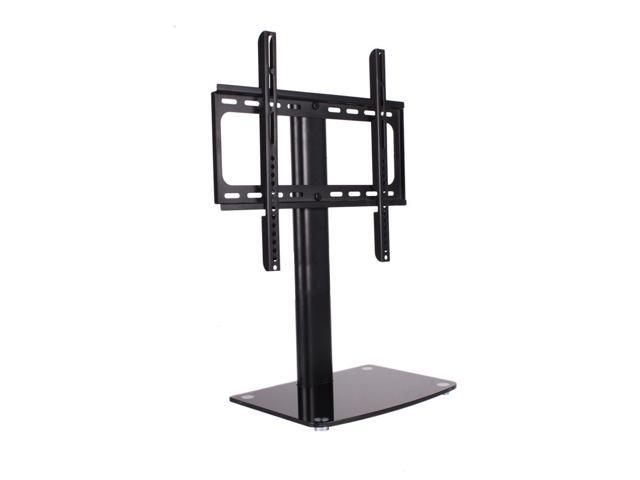 New Articulating Tilt & Swivel TV Wall Mount with Tripl Glass Shelf Media Stand
