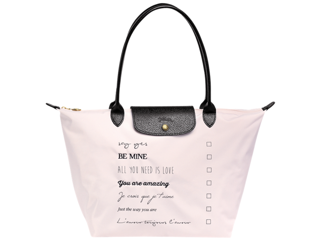 Longchamp Le Pliage St. Valentine Large Shoulder Tote Bag .