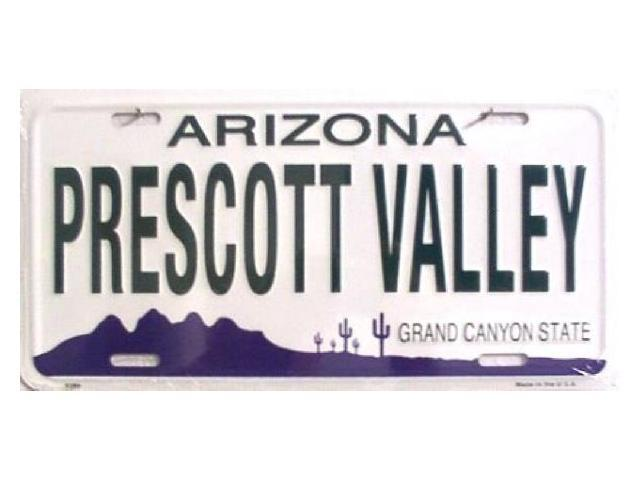 Prescott Valley (AZ) United States  city photos gallery : AZ Arizona Prescott Valley State Background Aluminum License Plate ...