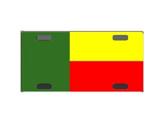Benin Flag Aluminum License Plate - SB-LP3972