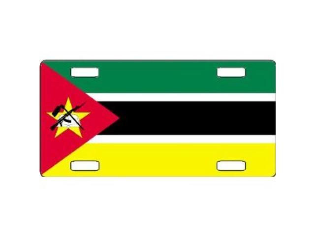 Mozambique Flag Aluminum License Plate - SB-LP4102