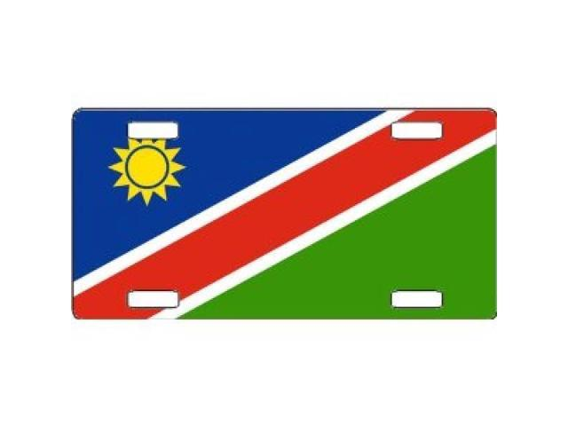 Namibia Flag Aluminum License Plate - SB-LP4104