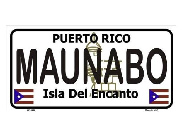 MAUNABO Puerto Rico State Background Aluminum License Plate - SB-LP2858