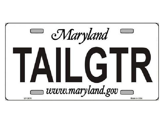 TAILGTR Maryland State Background Aluminum License Plate - SB-LP3679