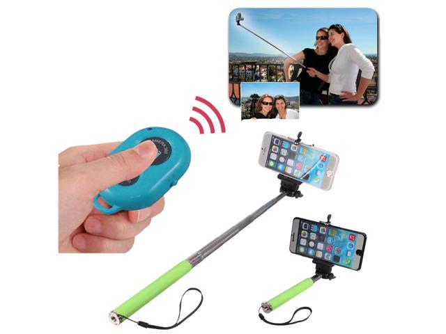 bluetooth shutter remote control selfie stick handheld monopod for smart ph. Black Bedroom Furniture Sets. Home Design Ideas