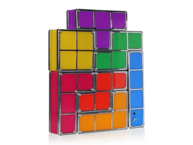 Novelty Recesky Tetris Puzzle DIY Constructible Retro Game Style Stackable  LED Light Desk Lamp - Novelty Recesky Tetris Puzzle DIY Constructible Retro Game Style