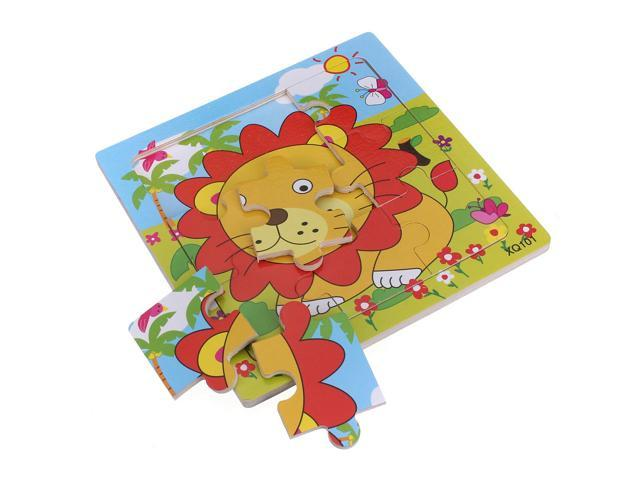 Wooden Animal Puzzle Jigsaw Early Learning Baby Kids Educational Development Toys Cute lion