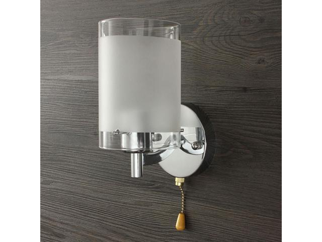 Modern Silver Chrome Indoor E27 Single Head With Switch Wall Light Lamp Lights Fittings Living