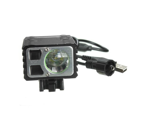 XML T6 3 Mode 1000 Lumen Bicycle Bike Light Headlight Headlamp USB Recharge, Head Strap, Battery Pack, Rubber Ring, Plug Adapter
