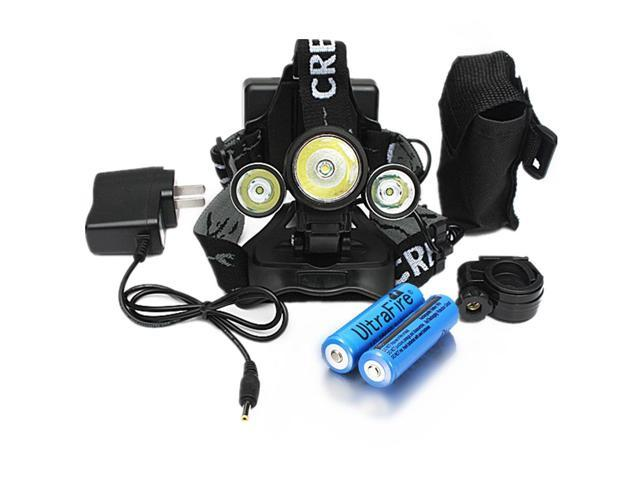 5000LM 3X  XM-L T6  LED Headlight Headlamp Bike Flashlight Charger Battery
