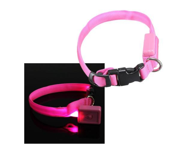 LED Light  Dog Cat  Pet Night Safety Collar Bright Flashing Light Up Necklace