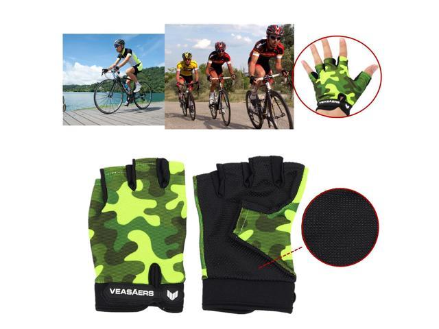 Outdoor Sport PU leather Half Finger Cycling Bike Bicycle Fitness Hunting Gloves
