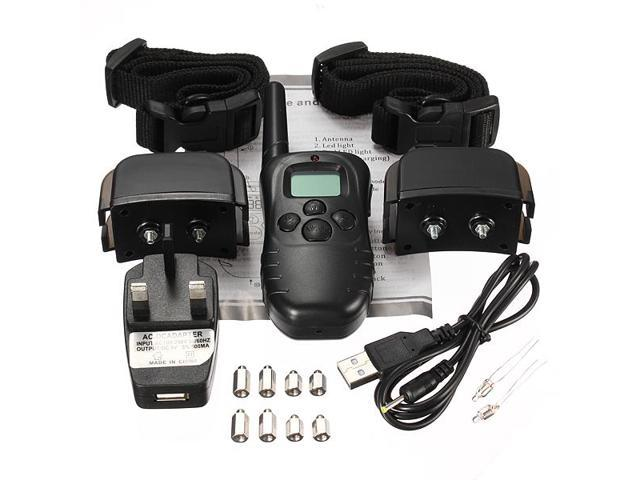 2 Rechargable Anti Bark LCD Electric Collar for Dog Stop Barking Remote Training