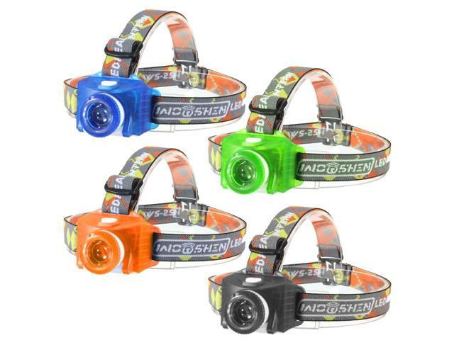 NEW Adjustable ABS Plastic 3 Modes LED Energy Saving Mini Headlamp Headlight 3 AAA For Camping Hiking Climbing Outdoor Multi-Color