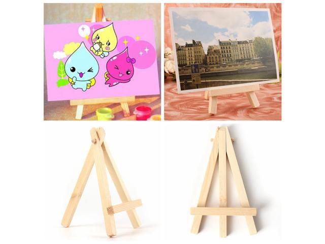 10PCS Wood Artist Easel Wedding Cafe Party Name Card Stand Display Holder 2.75'' x 4.72''