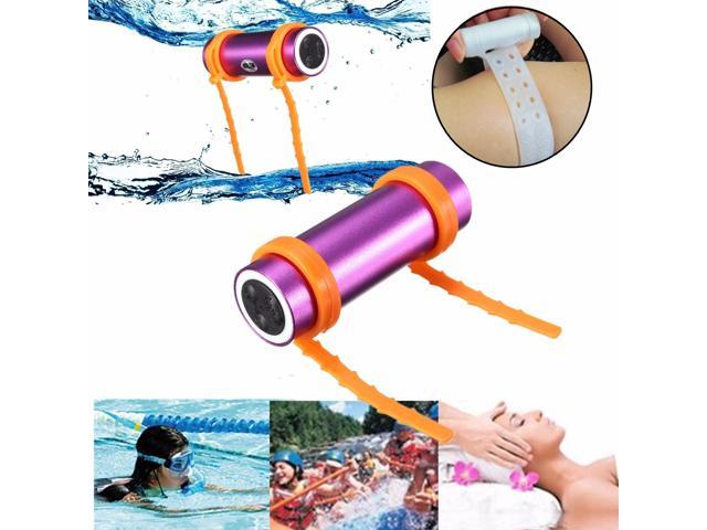 8GB Waterproof IPx8 Swimming Diving Surfing Water Sports MP3 Music Player FM Radio + Earphone + Armband