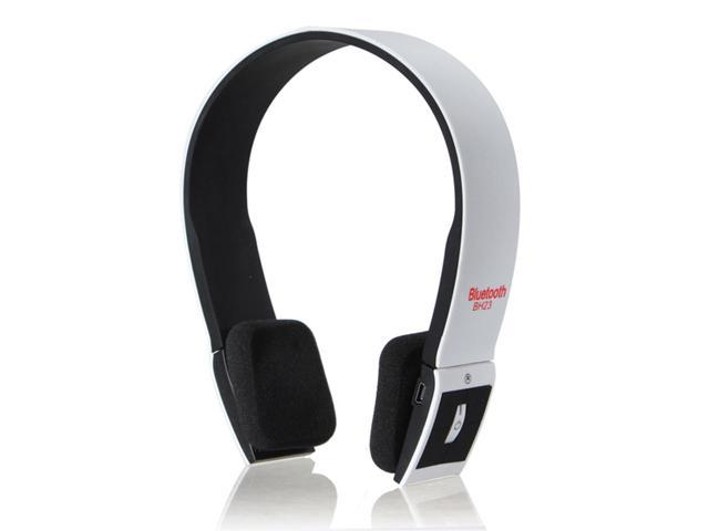 BH23 2-Channel Wireless Bluetooth Handsfree Headphone Headset for iPhone iPad2-White