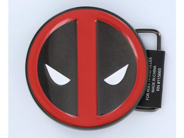 Marvel's Deadpool Enamel Gun Metal Belt Buckle