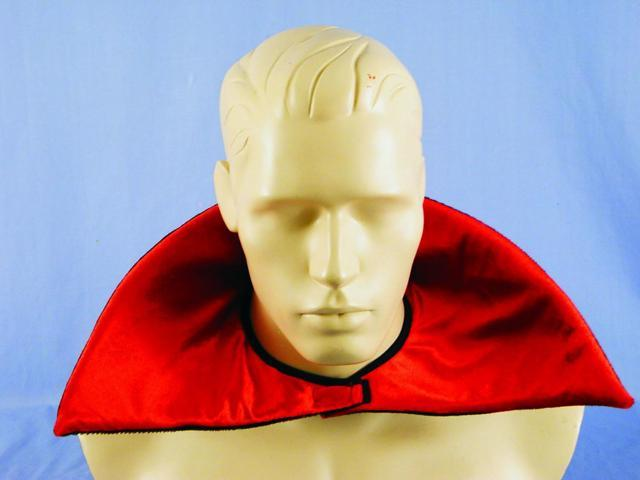 Red Velour Vampire Collar Costume Accessory One Size
