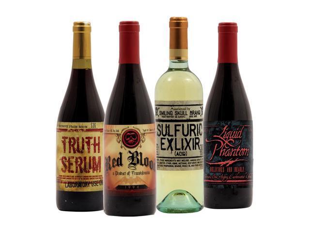 Spooky Wine Bottle Stickers Halloween Decor (Series #1)
