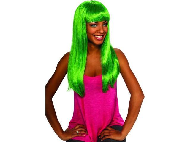 Aqua Doll Long Green Costume Wig Adult One Size