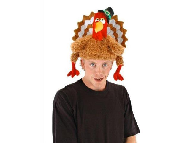 The Gobbler Turkey Costume Hat Adult One Size