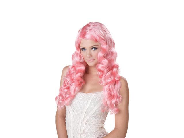 Pink Sweet Tart Long Costume Wig Adult One Size