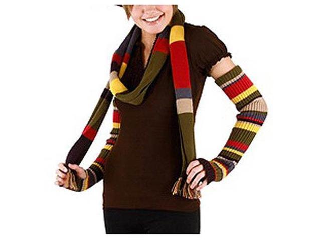 Doctor Who 4th Doctor Arm Warmers: Multicolor One Size Fits Most