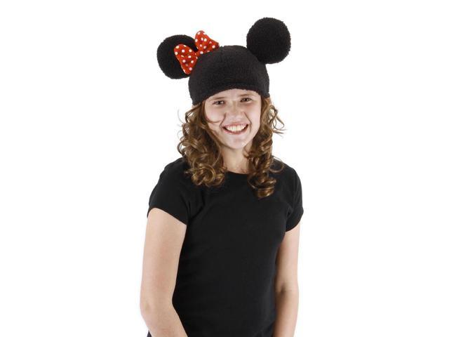 Disney Minnie Knit Beanie Costume Hat Child One Size
