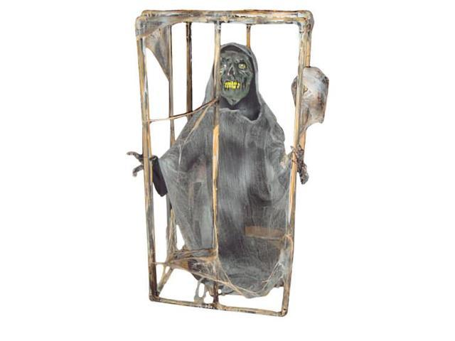 Caged Ghoul With Motion Sound And Light Up Eyes