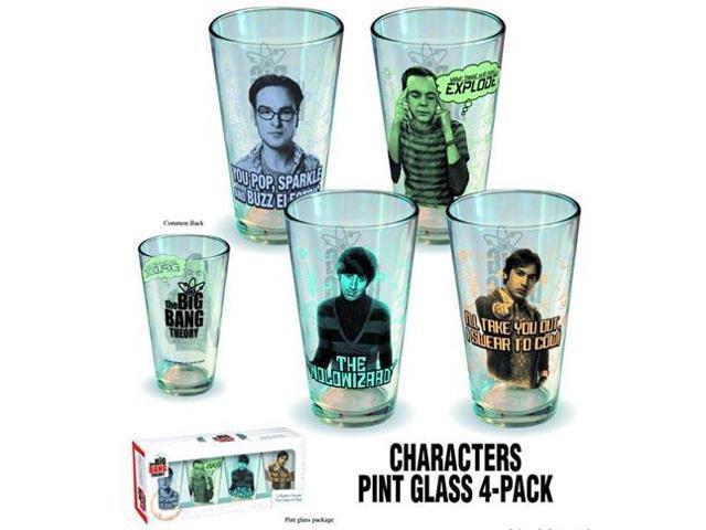 Big Bang Theory Character Pint Glass 4 Pack