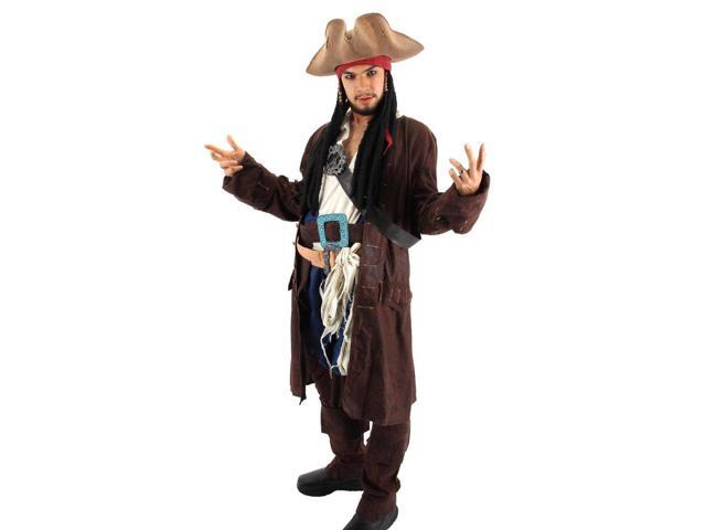 Pirates Of The Caribbean Jack Sparrow Tricorn Costume Hat Adult One Size