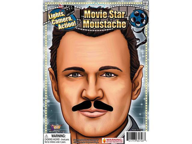 Movie Star Black Costume Moustache One Size