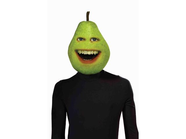 Annoying Orange Pear Adult Costume Latex Mask One Size Fits Most