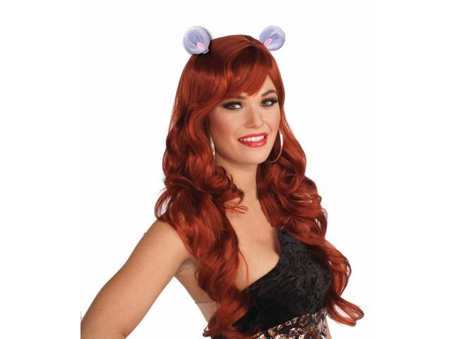 Animal Ears Costume Hair Clips: Mouse One Size