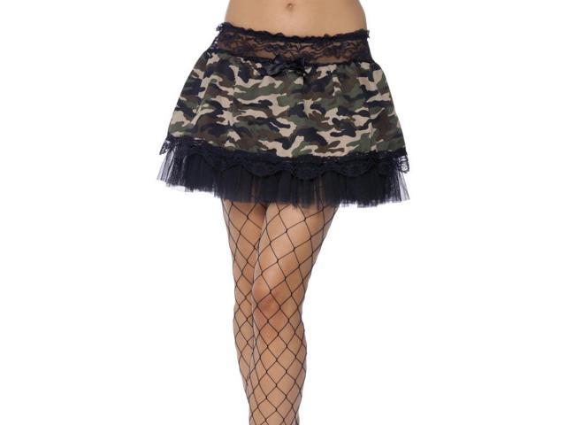 Tutu Black & Camouflage Adult Costume Undercoat One Size Fits Most