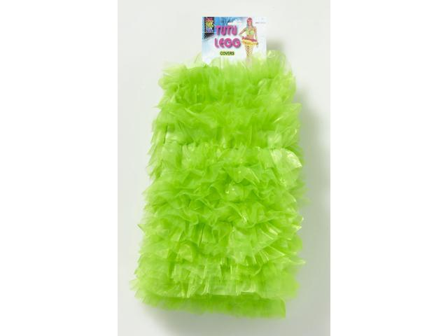 Club Candy Ruffled Tutu Costume Leg Covers Adult: Green One Size