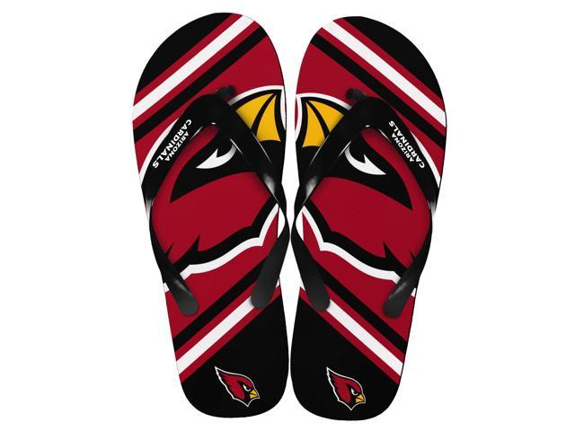 Arizona Cardinals NFL Unisex Big Logo Flip Flops Medium (W 9-10/M 7-8)