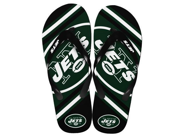 New York Jets NFL Unisex Big Logo Flip Flops Large (M 9-10)