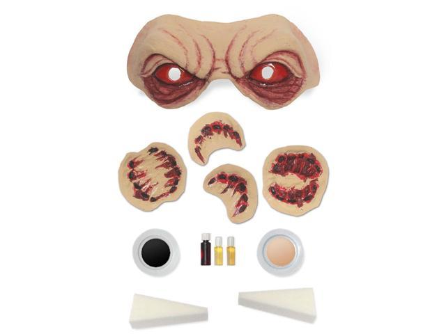 Infected Bloody Zombie Costume Makeup & Prosthetics Kit Adult One Size